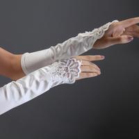 Love bridal gloves wedding dress accessories fingerless long gloves design exquisite handmade beads bridal gloves