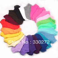 40Pairs/Lot Men Women Invisible Socks Wholesale Cotton Socks
