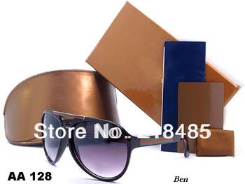 Classic sunglasses women/men brand design large Circular frame eyewear with original box,6 color #128 mix order