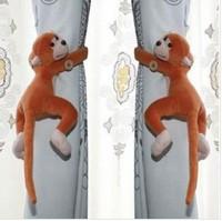 Free shipping Long-tail Monkey Curtain Buckle Accessory Belt ,Window Curtain Tieback Belt ,2Pair/lot,bs227