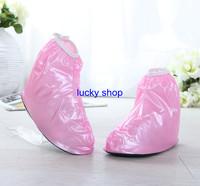 Newest Elastic Rainproof PVC Shoe Rain Covers for Children Free shipping