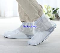 Newest Elastic Rainproof PVC Men Rain Shoe Covers for Riding Motor Car Free shipping