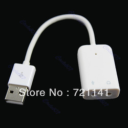 Free Shipping USB 2.0 To 3D Virtual 5.1 Channel Audio Sound Cable Card Adapter Music Fairy(China (Mainland))