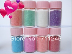 Shin Rainbow Sequins paillette Vial Pendant decorate Fine powder glitter DIY Decorate Glitter Paillette Glass Bottle Decorations