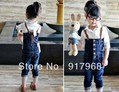 Free shipping 2012 HOT children bule denim jeans cheap 3-7 yrs old baby wear girls overalls jeans kids causal pants trousers(China (Mainland))