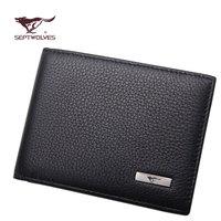 Genuine leather SEPTWOLVES men's driver's license bag multi card holder bag documents bag da92023