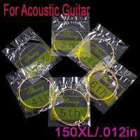 6pcs/set 30pcs 150XL/.012in Acoustic Guitar Strings I61 Free shipping Drop Shipping Wholesale
