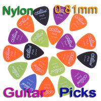 5 sets/lot(100pcs) Alice 20x 0.81mm Smooth Nylon Guitar Picks Plectrums I27 Free Shipping Wholesale