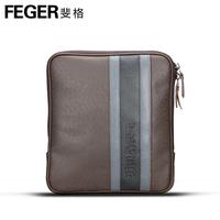 Feger colorant match cowhide male shoulder bag messenger bag man bag lather-bag backpack