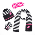 New Fashion Cute Boys & Girls Stripe Winter Autumn Child Kids Baby Kids 3 Piece scarf + hat + gloves whole set  Xmas Gift(China (Mainland))