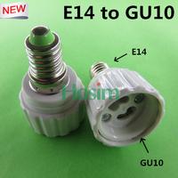 10pcs E14-GU10 lamp holder converters, E14 to GU10 Lamp AdapterLED extend base Light Bulb Lamp Socket Adapter, Free shipping