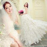 On sale new arrival 2014 hot fashion bridal slim tube top vintage fashion wedding dress elegant bangdage lace up wedding dresses