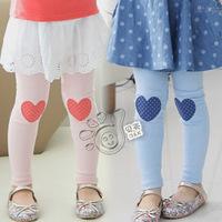 Korea Style!!2014 Autumn new casual lovely sweet heart girls kids baby trousers legging pants ,female children clothing/wear