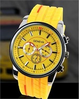 Min Order $20 (mixed order) Fashion geneva rubber tyre watch personality fashion watch a02 (LP)