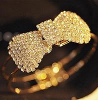 Fashion full rhinestone bow spring brief opening rhinestone bracelet female fashion bracelet