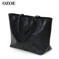 Ozoe 2013 spring large brief handbag shoulder bag women's bags vintage casual bag