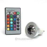 GU10 3W RGB Change Magic LED Light Bulb Lamp 85-265V+IR Remote Control 80839 Free Shipping