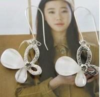 Fashion crystal 0149 gentlewomen cutout crystal butterfly alloy ear buckle earrings stud earring