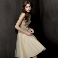 L636 tube top design short dress bridal wear evening dress bridesmaid dress 2012