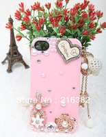 Love Tassel Rhinestone 3D Bling Phone Accessory  For iPhone 4 iPhone 4S iPhone 5 Phone Case Free Shipping