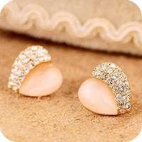0404 accessories love heart - eye stud earring 4g