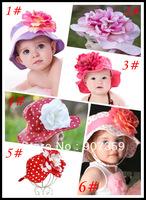 Doomagic Hat Top Baby Summer Sun Hats Girl's Ultraviolet Caps with flower style anti-UVA Sunhat Cap 3 sizes 21pcs/lot