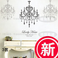 Wall stickers entranceway room decoration romantic aesthetic elegant pendant light crystal lamp j-29