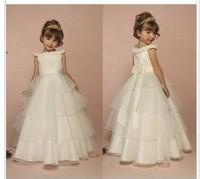 Female child bridesmaid princess flower girl dress wedding dress performance wear child long design formal dress infant white