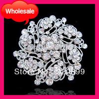 2013NEW!Great Quality Diamante Rhinestone Brooch for Wedding Invitation ,Wedding Embellishment