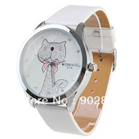 2013 NEW coming Girl Women Watch White Watchband White Dial Plate lady's woman fashion Watch montre stylish hours gift