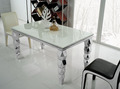 High quality marble top   Dining Table with  stainless steel frame modern  dining room set home furniture TH325(China (Mainland))