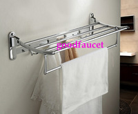 NEW Free Shipping Chrome Towel Shelves Wholesale High Quality Stainless Steel Wire Drawing Bath Towel Shelves / Towel Racks