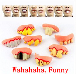 Funny Gags & Practical Jokes,Freak False Teeth Set,Halloween Props,April Fool's Day Gift,Wacky Toy,Free Shipping(China (Mainland))