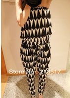 Free Shipping  2013 New Spring and Summer Fashion Womens Jumpsuits & Rompers loose geometric Stretch Strapless Harem pants D-322