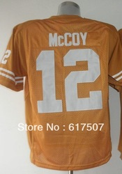 Free Shipping Texas Longhorns #12 Colt McCoy Men's College Football Jersey,Embroidery and Sewing logos,Size M--3XL(China (Mainland))
