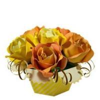 Plants flowers roses bouquet 3D paper model DIY manual