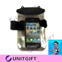 Black White Phone Waterproof Durable PVC Waterproof Bag Underwater Case For iPhone 4S 5 Travel Transparent Pouch FREE SHIPPING