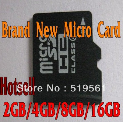 50pcs Large Supply Hotsell Card Brand New Memory Card 2GB 4GB 8GB 16GB 32GB For Phone Tablet PC HongKong Post Free Shipping(China (Mainland))