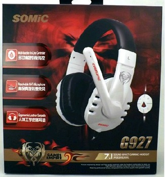 free shipping somic G927 computer 7.1 fashion usb headset game earphones Headphones with mic for game or music