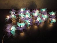20 Blue-Deep blue Orchid Flower Fairy String Lights  3.5M