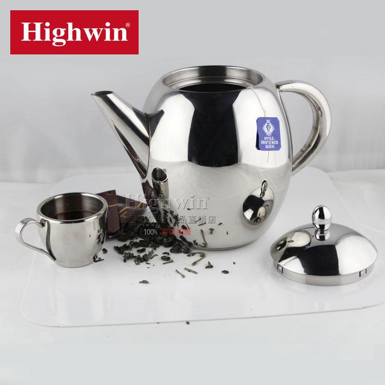 Factory direct sale price egg shape stainless steel 1L teapot ,coffee pot ,milk pot ,with strainer(China (Mainland))