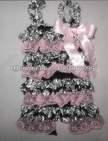 2013 New style Baby Satin Ruffles Petti Rompers Baby girls cheap rompers Baby rompers with bows for girls