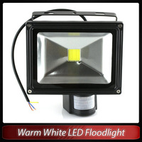 Warm white LED 10W induction lamp infrared response spot flood light sensor