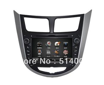 Car DVD GPS for Hyundai Verna with RDS ipod TV bluetooth USB phonebook