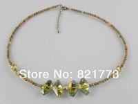 40+5cm picture jasper Austria crystal necklace