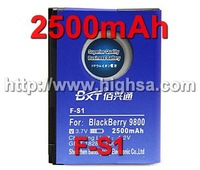 10pcs/lot 2500mAh F-S1 High Capacity Business Battery for Blackberry 9800 9810 etc Phones