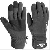Free shipping line/mountain wind double fleece winter warm outdoor gloves