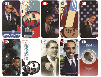 New skin design Barack Obama case hard back cover for iphone 4 4s bulk 10PCS/lot cases+free shipping