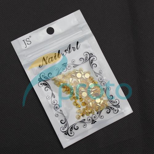 Freeship- 100pcs 4mmx5mm Gold Metal Nail Art Punk Cone Spike Studs Rhinestones DIY 3D Decoration Dropshipping [Retail] SKU:D0333