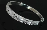 925 Sterling Silver Bangle Pure Silver Bangle Bracelets Gorgeous Star Shinning Bangles Women Fashion Silver Jewelr y